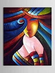 pintado a mano las personas pintura al óleo chica en diferente cara cara de niña con marco estirado
