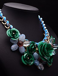 Eternity Women's Gorgeous Flower Gem Necklace