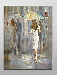 Hand-Painted PeopleRealism One Panel Canvas Oil Painting For Home Decoration
