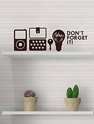 Wall Stickers Wall Decals,  Modern Don't forget to iPOD mobile phone sets of keys bulb PVC Wall Stickers