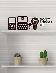 stickers muraux stickers muraux, moderne, n'oubliez pas de ipod ensembles de téléphones mobiles de touches ampoule muraux PVC autocollants