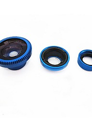 Universal Magnetic 0.67X Wide Angle 180° Fish Eye Macro Lens Set for Cell Phone and Digital Cameras