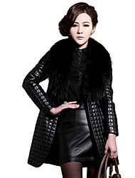 Women's Fashion Winter All-match PU Coat