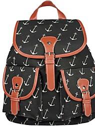 Women's Rucksack School Bag Satchel Canvas Backpack