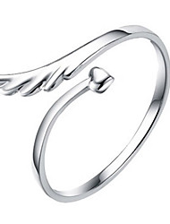 Weimei Women's Elegant Angle'S Wing Silver Ring