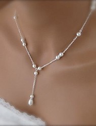 Women's European Fashion Gourd Imitation Pearls Alloy  Pendant Necklace (1 Pc)