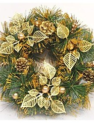 35cm Golden Christmas Wreath Doors Decorated Christmas Decorations