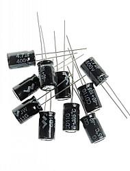 capacitor eletrolítico 4.7uF / 400v projeto DIY (10pcs)
