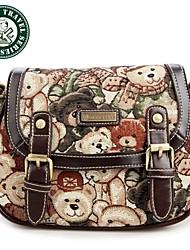 Daka bear® retrò tracolla messenger bag moda ragazza borse alla moda zainetto