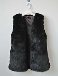Fur Vest With Fashionable Collarless In Faux Fur Casual/Party Vest(More Colors)