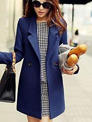fino casaco de tweed trincheira das mulheres