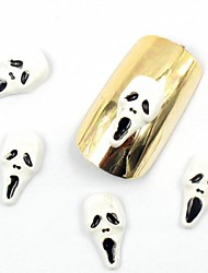 50PCS 3D False Nail Designs Halloween Nail Designs Skull for Acrylic Nail Tips False Nail Art Decorations