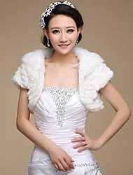Wedding  Wraps / Fur Wraps Shrugs Sleeveless Faux Fur White Wedding / Party/Evening