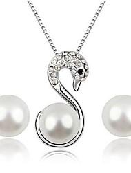 elegantes conjuntos de jóias de diamante das mulheres