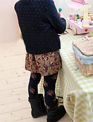 Girl's Boneless Princess Jacquard Leggings