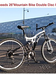 "27 Speeds TAIWAN Micro 26"" *17 SLM™ Disc Brake Mountain Bike 40 Spokes Flat Tire Fork Shock Absorption"