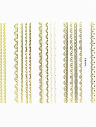 Lovely Nail Art Stickers Decals Wedding Lace Series Nail Accessory for Acrylic Nail Tips DIY Nail Art DecorationsNO.02
