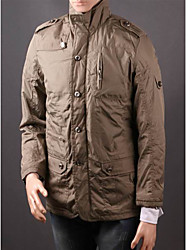 Men'S Stehkragen Lange Trenchcoat