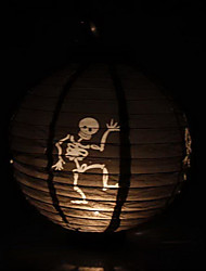 Black Skeleton Pattern Lantern Holloween Decoration(Bulb Excluded)
