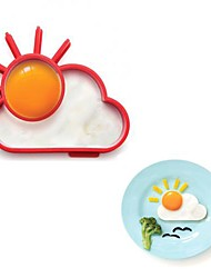 Novelty Sunnyside Sun Cloud Egg Ring Silicone Frying Egg Omelette Circle 13.8 x 11 x 2.4 cm