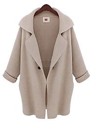 Women's Coats & Jackets , Others/Tweed Casual Long Sleeve Y&Y