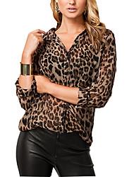 L&W Women's Leopard T Shirt