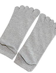 3 Pairs Of Polyester Solid Socks