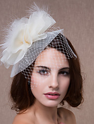 Women's Feather Tulle Headpiece-Wedding Special Occasion Flowers