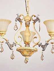 Max 60W Traditional/Classic Crystal Painting Chandeliers Living Room / Bedroom / Dining Room