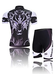 West biking Cycling Jersey with Shorts Men's Short Sleeve Bike Breathable 3D Pad Reflective StripsSleeves Jersey Jersey + Shorts Clothing