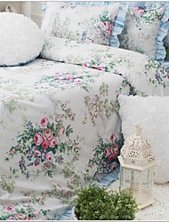 FADFAY@Vintage Floral Bedding Set Romantic Rose Print Bedding Fairy Girls Bedding Set Queen