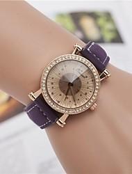 relógio de forma de diamante de pulso de quartzo das mulheres (cores sortidas)