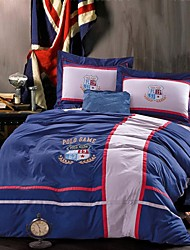 FADFAY@Fashion Kids Bedding Set Boys Unique Men Bedding Sets Blue Sports Bed In A Bag Queen
