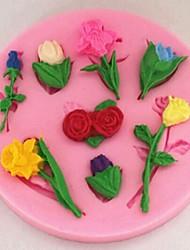 Valentinstag Rosen Lilien Tulpen Blume Fondant Kuchenformen