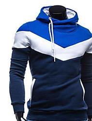RUILIKE®Men's Hoodie Contrast Color Causal Long Sleeve Hoodie Shirt