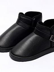 Men's Shoes Casual Leatherette Boots Black/Brown