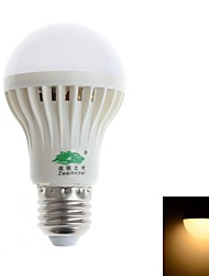 5W E26/E27 Ampoules Globe LED A60(A19) 18 SMD 3528 480-500 lm Blanc Chaud Décorative AC 85-265 V