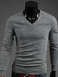 géneros de punto v cuello ceñido al cuerpo de los hombres manlodi