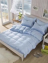 Manmer® Duvet Cover Set Striped Ab Version Dear Skin Tencel Dye Full