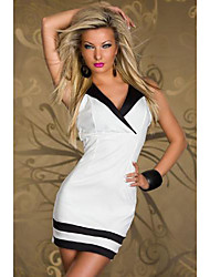 Qnei&A Sexy Sauna Club Fashion Dress(White)