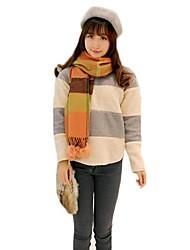 Frauen Streifen Spleißen Pullover