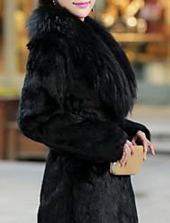 XT Women's Sleeveless Slim Temperament Elegance Fur Overcoats