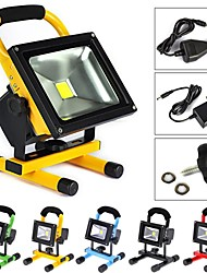 10W LED Floodlight 1 High Power LED 1000 lm Cool White Rechargeable AC 100-240 V