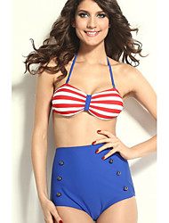 classical swimwear halter biquíni das mulheres