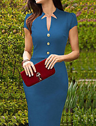 Dolce Women's Fitted Blue Pencil Dress