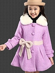 Girl's Cashmere Jacket & Coat , Winter Long Sleeve