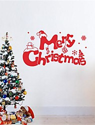 JiuBai® Merry Christmas Wall Sticker Wall Decal, 58CM*34CM