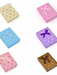 Square Spot Paper Jewellery Set Box(Necklace/Earrings/Ring)