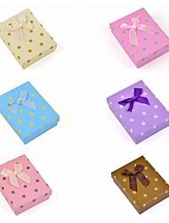 quadratischen Punktpapierschmuck-Set-Box (Halskette / Ohrringe / Ring)
