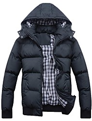 Men's Warm Detachable Cap  Down Jacket